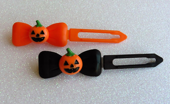 Baby Pumpkin by Posh Puppy Top Knot barrettes