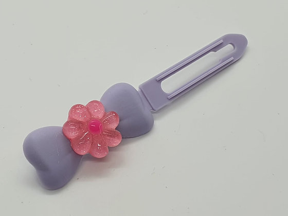 Limited Edition Cartoon Flowers on 4.5cm Bow Clip by Posh Puppy UK