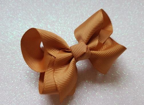 Caramel Large Bow Alligator clip