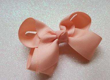 Peach Large Bow Alligator clip