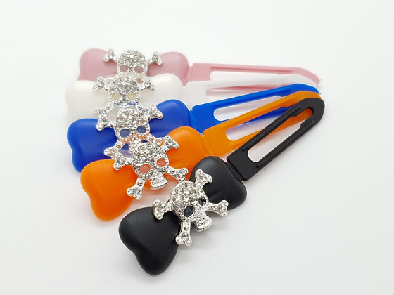 Diamante Skull top Knot barrette clip for dogs
