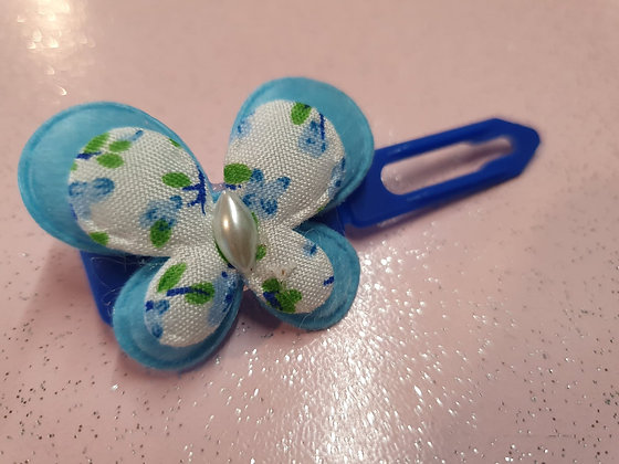 Fabric Butterfly's top knot barrette 3.5cm by Posh Puppy