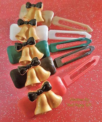 Jingle Bells Barrette Christmas novelty Clip
