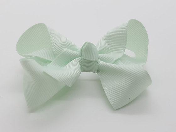 Aqua Large Bow Alligator clip