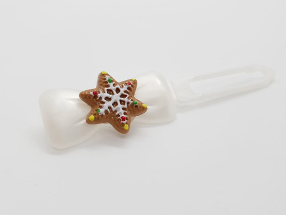 Limited Edition Christmas Snowflake on a Bow Clip 4.5