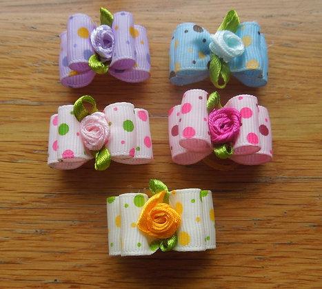 Rosebud Top Knot Elastic Bow