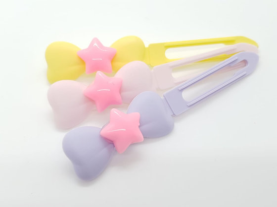 Pink Star top Knot barrette clip for dogs