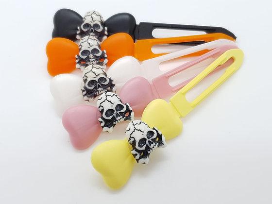 Skull & Crossbones top Knot barrette clip for dogs