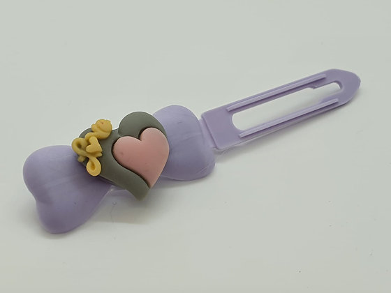 Limited Edition Love Heart on 4.5cm Bow Clip by Posh Puppy UK