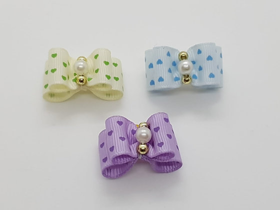 Love Heart Soft Top Knot Elastic Bow