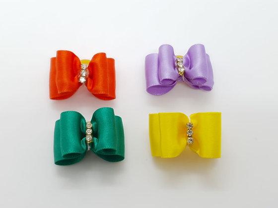 Elegant Satin Diamonds Soft Top Knot Elastic