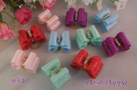 Glitter Satin Knot Elastic Bow