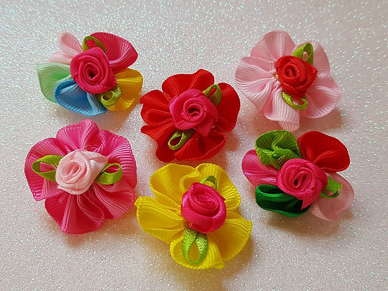 Soft Rose Top Knot Elastic Bow