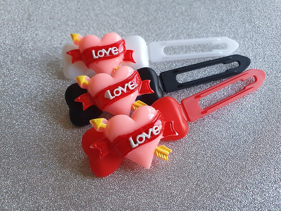 Cupid Heart top Knot barrette clip for dogs
