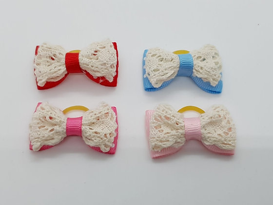 Lace Soft Top Knot Elastic Bow