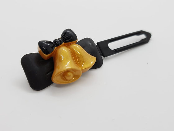 Limited Edition Christmas Jingle Bells on a Bow Clip 4.5