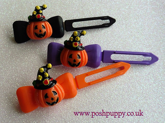 Pumpkin in a Hat by Posh Puppy Top Knot barrettes