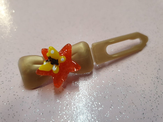 Butterfly on jelly star top knot barrette 3.5cm by Posh Puppy