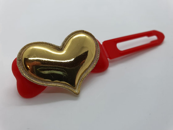 Valentine Limited Edition Gold Heart on 4.5cm Red Clip