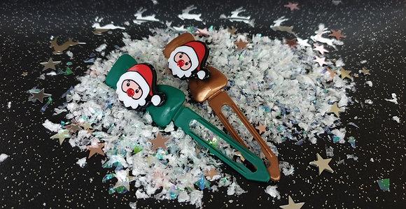 Santa Barrette Christmas Novelty Clip