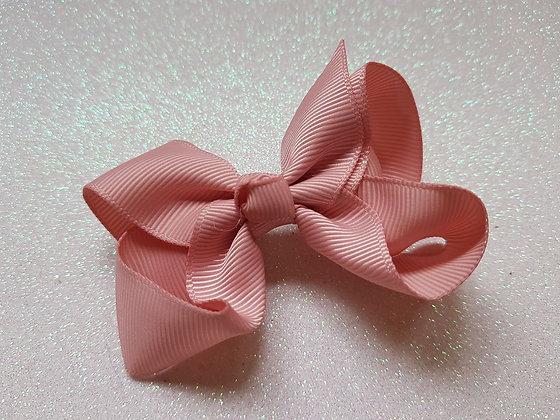 Pastel Pink Large Bow Alligator clip