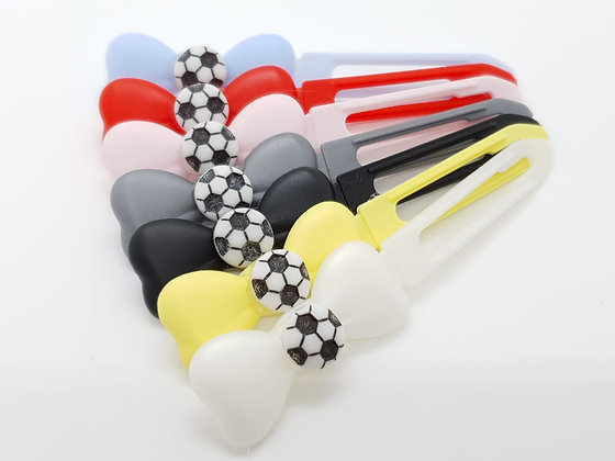 Football on a Top Knot barrette clip for dogs