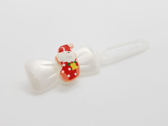 Limited Edition Christmas Stockings on a Bow Clip 4.5
