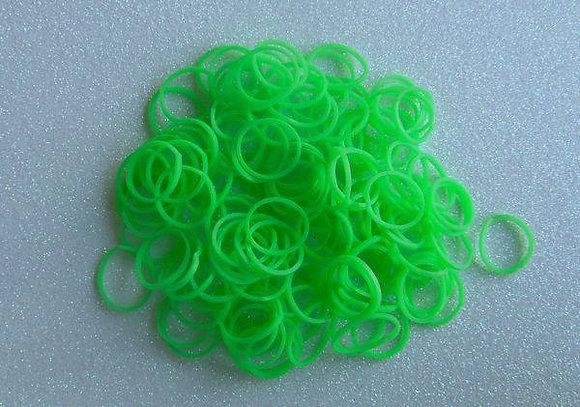 Green Colour Top Knot Elastics