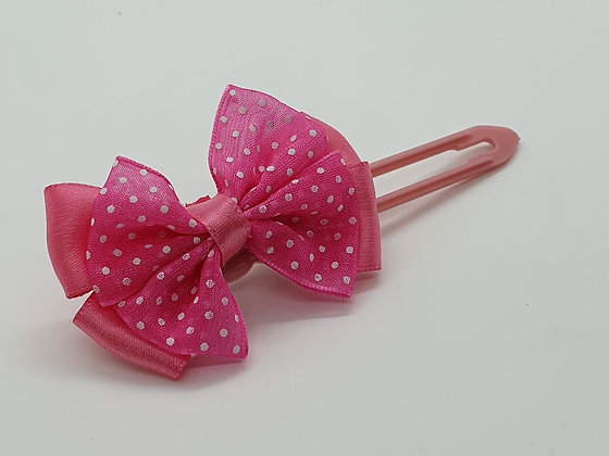 Bright Pink bow on a 4.5cm clip