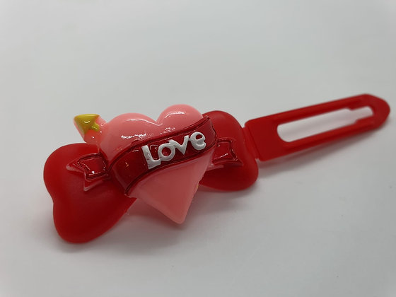 Valentine Limited Edition Cupid Heart on 4.5cm red Clip