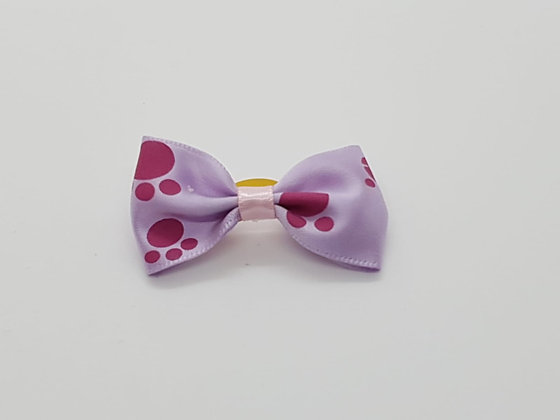 Purple Paw Patterned Bow Soft Top Knot Elastic