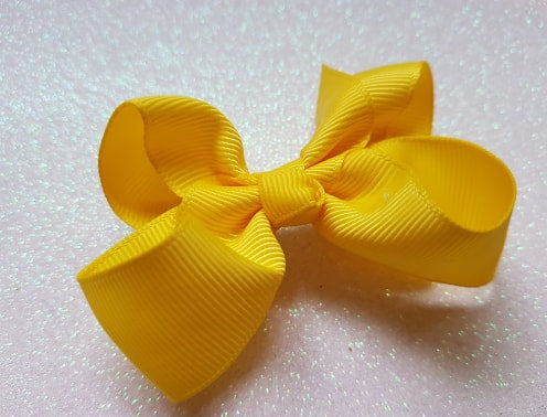 Yellow Large Bow Alligator clip