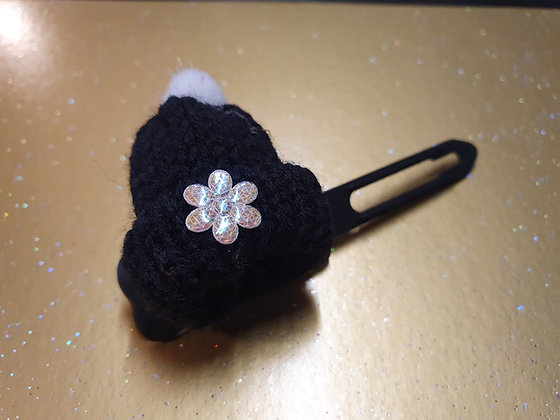 Woolly Hat top knot barrette 4.5cm by Posh Puppy