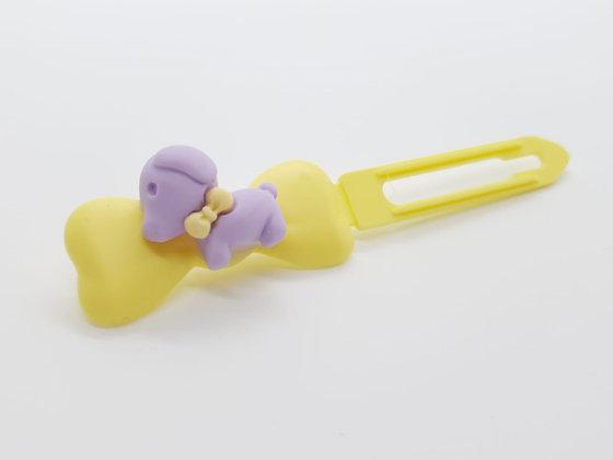 Puppy Barrette 4.5cm Bow Clip