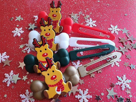 Rudolf top knot barrette 4.5cm by Posh Puppy