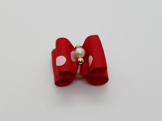 Pink Pooka Dot Soft Top Knot Elastic