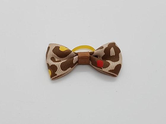Animal Print Soft Top Knot Elastic