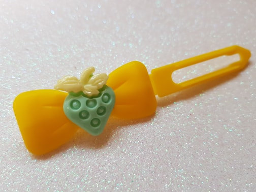 Strawberries top knot barrette 4.5cm by Posh Puppy