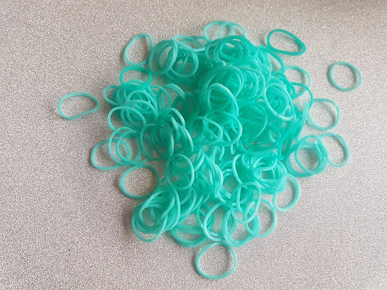 Aqua Colour Top Knot Elastic