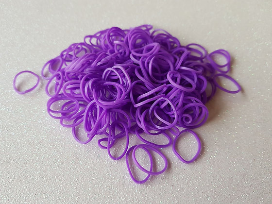 Purple Colour Top Knot Elastic