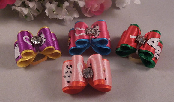 Snoopy Top Knot Elastic Bow