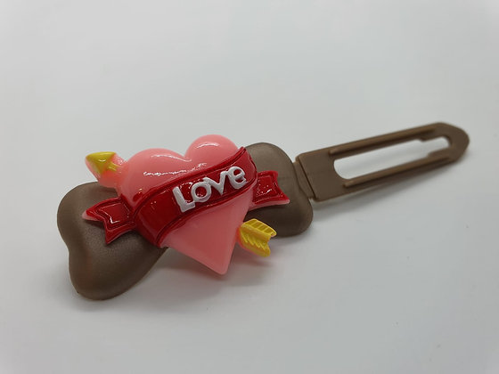 Valentine Limited Edition Cupid Heart on 4.5cm gold Clip