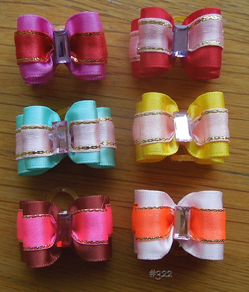 Satin Ribbon Top Knot Elastic Bow
