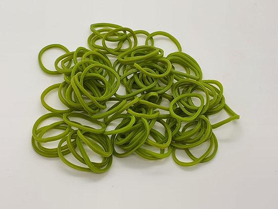 Camo Green Colour Top Knot Elastics
