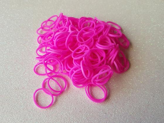 Rosa Pink Colour Top Knot Elastic