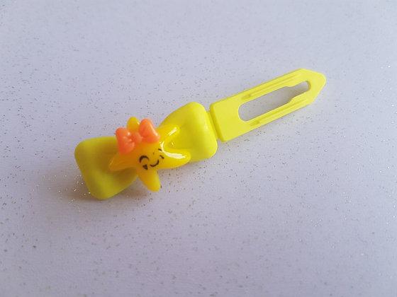 Happy Starfish top knot barrette clip