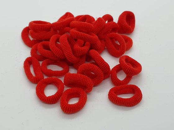 Red Soft Top Knot Elastics