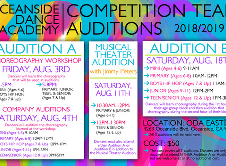 ODA Competition Team Auditions