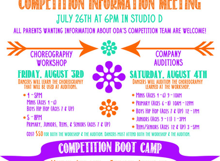 Competition Team Auditions