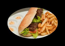 Américains pain demi baguette garnie salade tomates oignons caramélisé  pizza burger Evreux 27 Pont l'évêque 14 pb, pizza, burger, restauration rapide, rapide, basse normandie, haute normandie, normandie